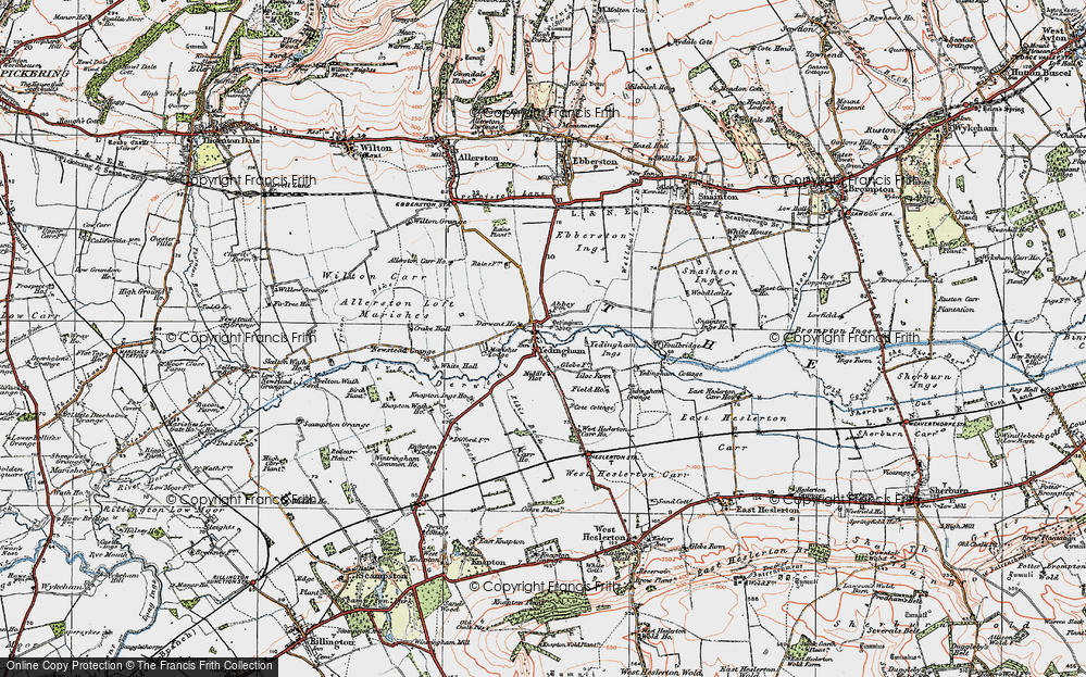 Old Map of Historic Map covering Westfield in 1925