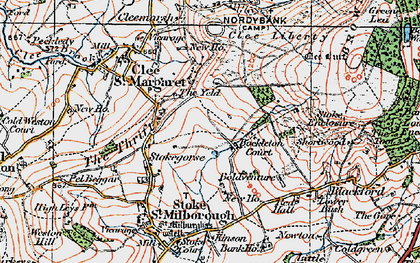 Old map of Yeld, The in 1921