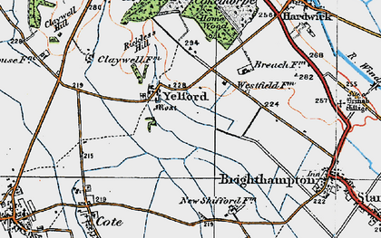 Old map of Yelford in 1919