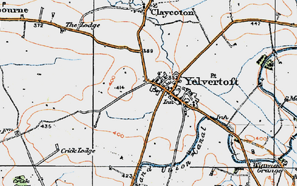 Old map of Yelvertoft in 1920