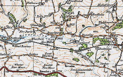 Old map of Yeo Mill in 1919
