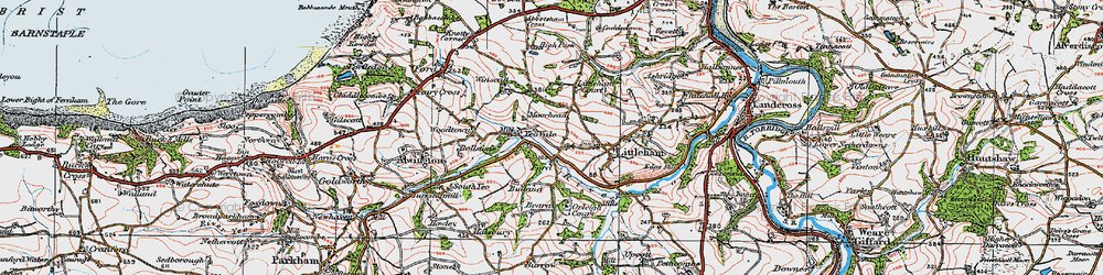 Old map of Yeo Vale in 1919