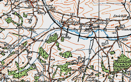 Old map of Yeoford in 1919
