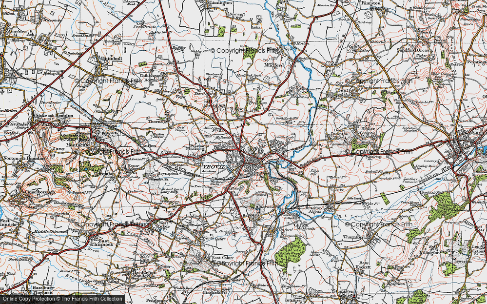 Old Map of Historic Map covering Aldon in 1919