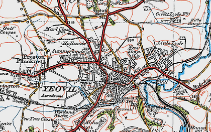 Old map of Aldon in 1919