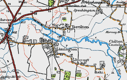Old map of Yeovilton in 1919