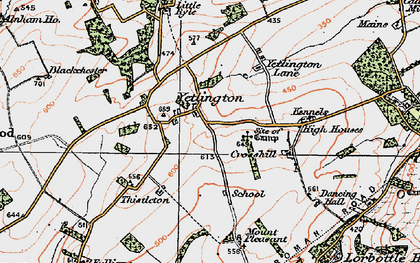 Old map of Yetlington in 1925