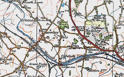 Old map of Yew Green in 1919