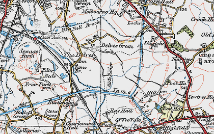 Old map of Yew Tree in 1921