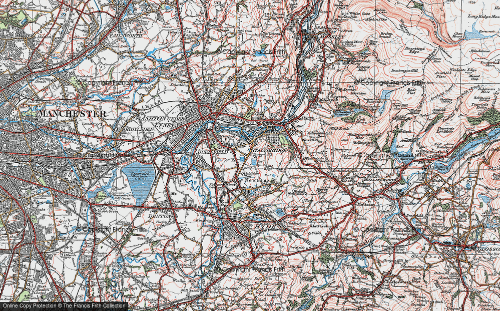 Old Map of Yew Tree, 1924 in 1924