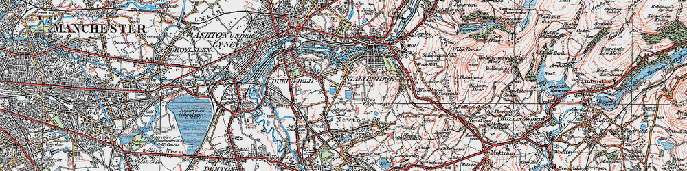 Old map of Yew Tree in 1924