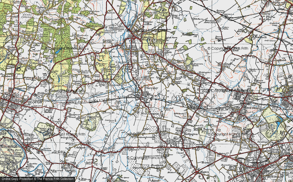 Old Map of Yiewsley, 1920 in 1920