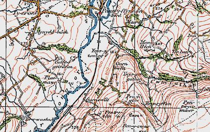 Old map of Ynus-tawelog in 1923