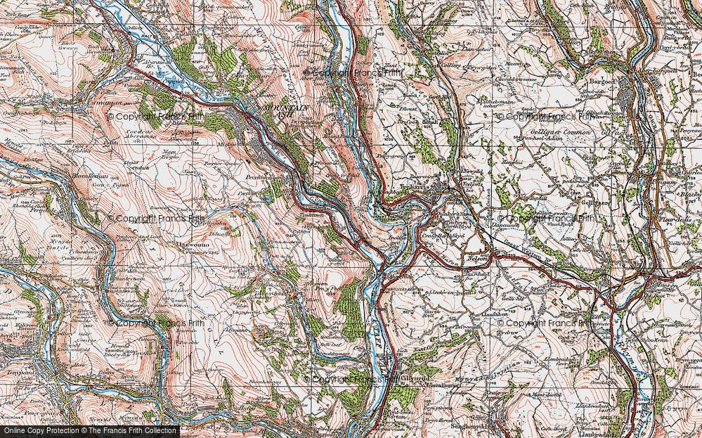Old Map of Ynysboeth, 1923 in 1923