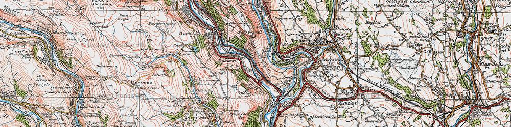 Old map of Ynysboeth in 1923