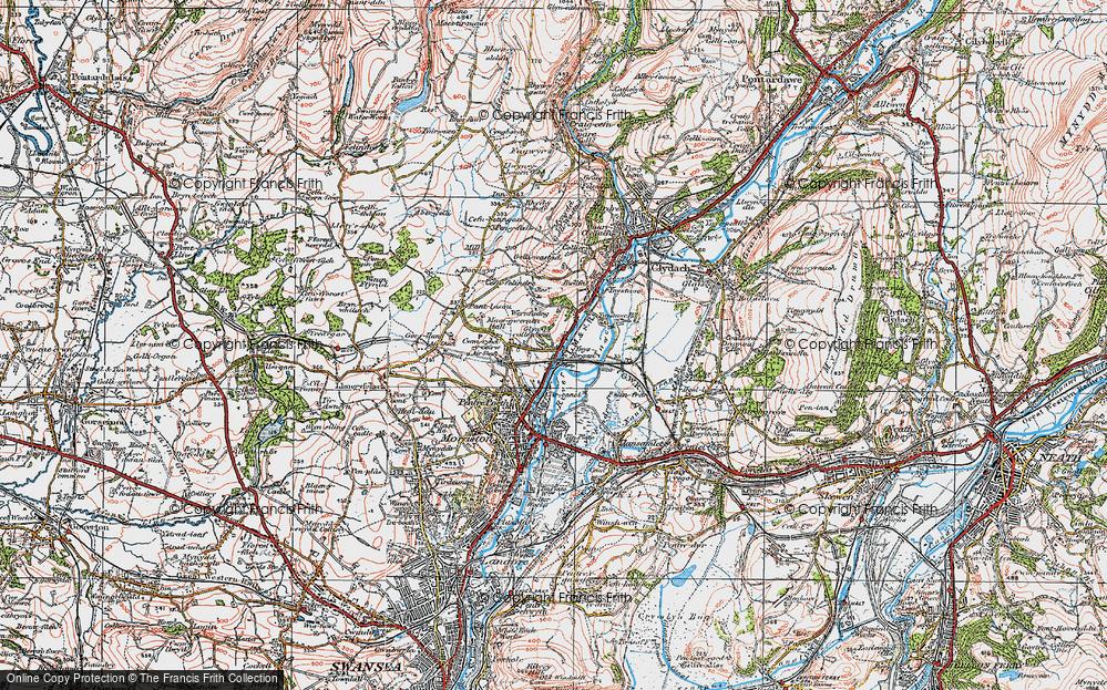 Old Map of Ynysforgan, 1923 in 1923