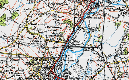 Old map of Ynysforgan in 1923