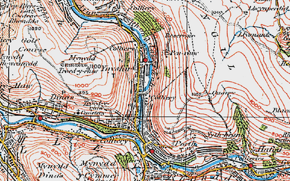 Old map of Ynyshir in 1922