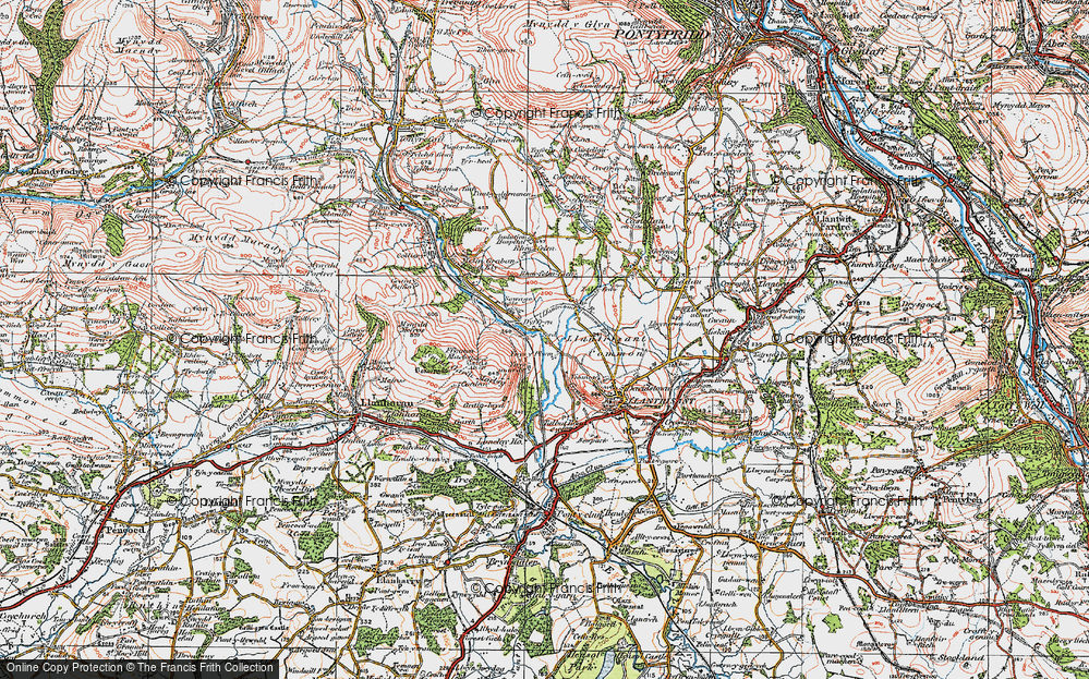 Old Map of Ynysmaerdy, 1922 in 1922
