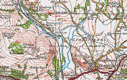 Old map of Ynysmaerdy in 1922