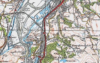 Old map of Ynysmaerdy in 1923
