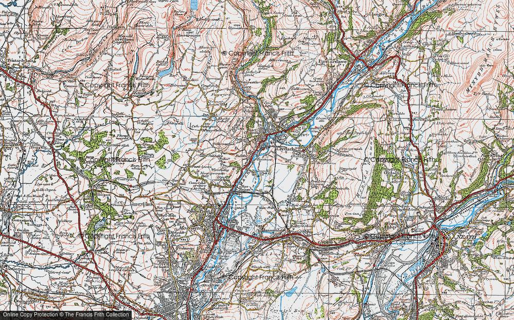Old Map of Ynystawe, 1923 in 1923