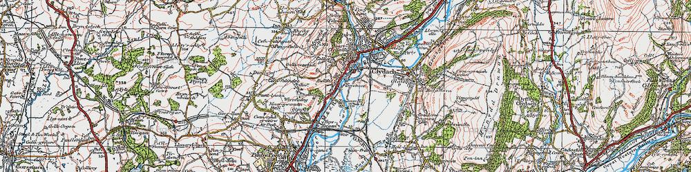 Old map of Ynystawe in 1923