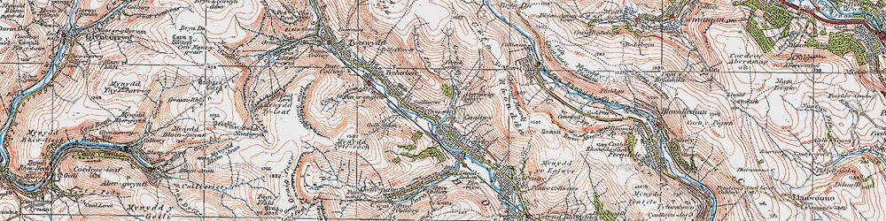 Old map of Ynyswen in 1923
