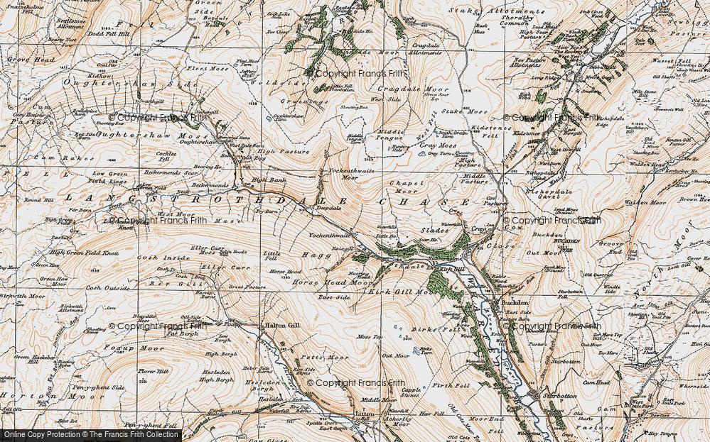 Old Map of Yockenthwaite, 1925 in 1925