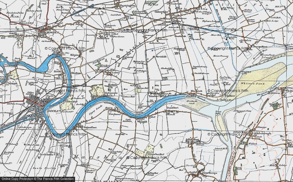 Old Map of Yokefleet, 1924 in 1924