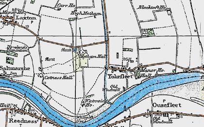 Old map of Yokefleet in 1924