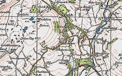 Old map of Yondertown in 1919