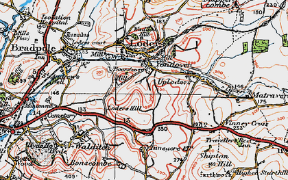 Old map of Yondover in 1919