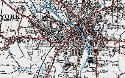 Old map of York in 1924