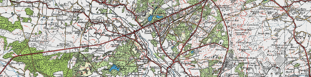 Old map of York Town in 1919