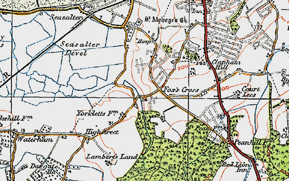 Old map of Yorkletts in 1920