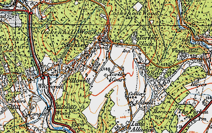 Old map of Yorkley in 1919