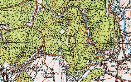 Old map of Yorkley Slade in 1919