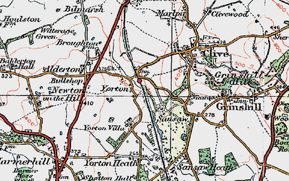 Old map of Yorton in 1921