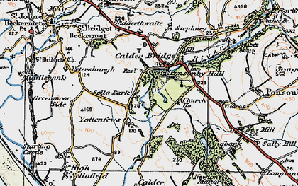 Old map of Yottenfews in 1925