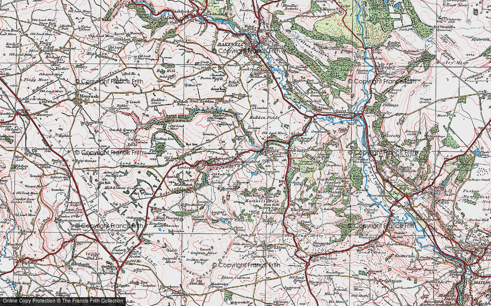 Old Map of Youlgreave, 1923 in 1923