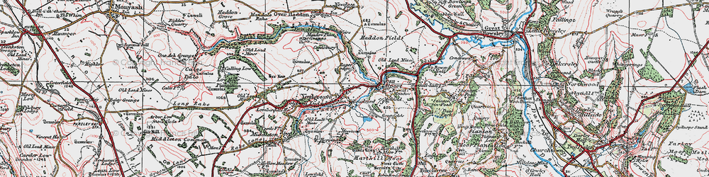 Old map of Youlgreave in 1923