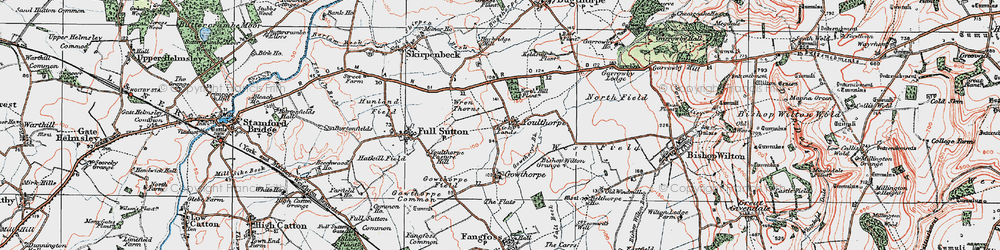 Old map of Youlthorpe in 1924