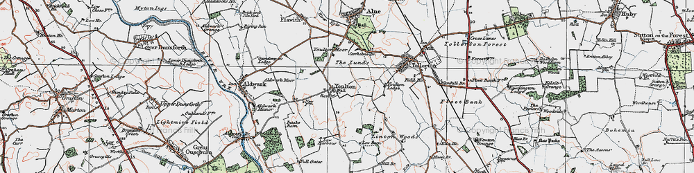 Old map of Youlton in 1924