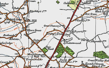 Old map of Young's End in 1921
