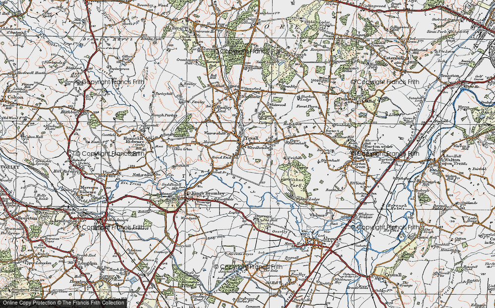 Old Map of Yoxall, 1921 in 1921