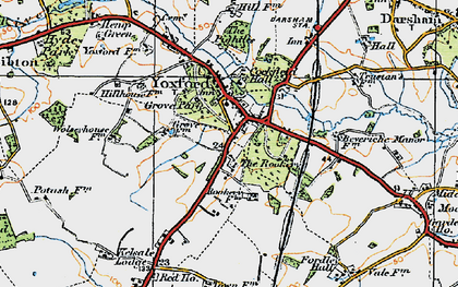 Old map of Yoxford in 1921