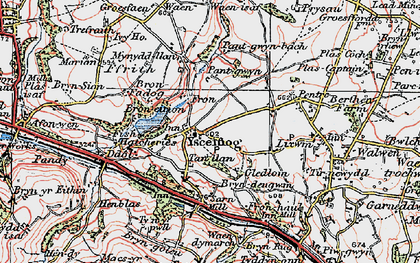 Old map of Ysceifiog in 1924