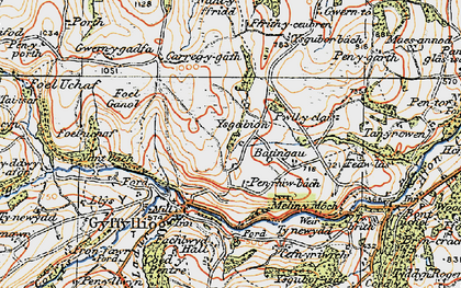 Old map of Ysgeibion in 1922
