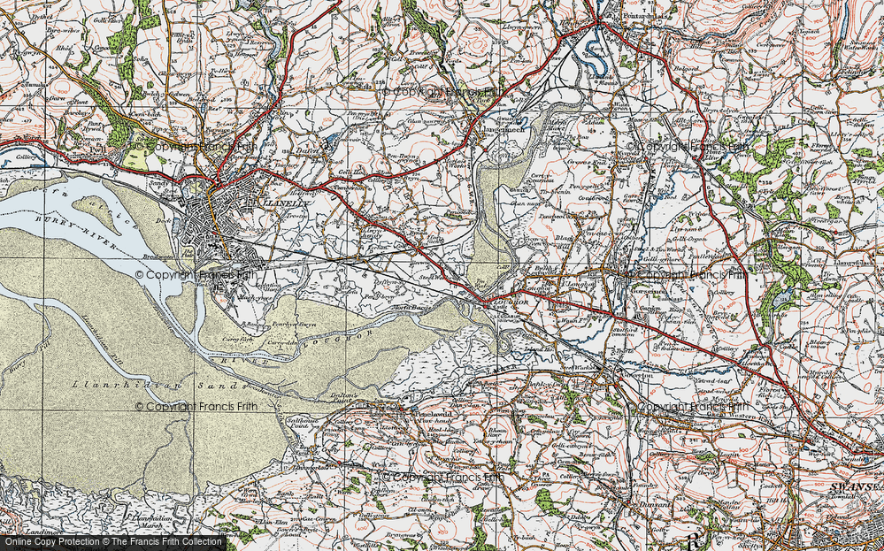 Old Map of Yspitty, 1923 in 1923